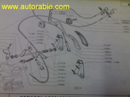 throttle cable fiat 124 cataloge photo2